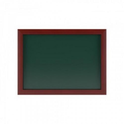 Доска меловая магнитная зеленая 500х700, дерев.коричн.рама