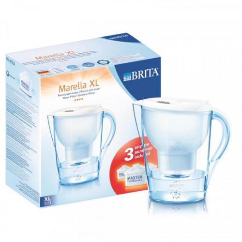 Фильтр-кувшин Brita Marella XL белый 3.5 литра 3 картриджа в комплекте