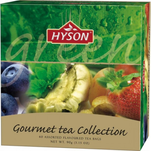 Чай Hyson зеленый Gurmet Tea Collection 60 пакетиков