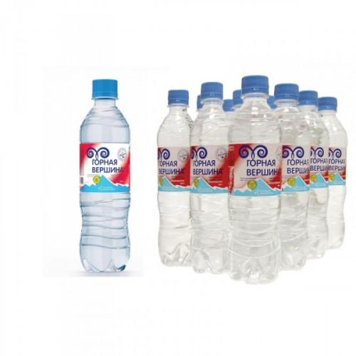 Вода минеральная Горная вершина негазированная 0.5 литра 12 штук в упаковке