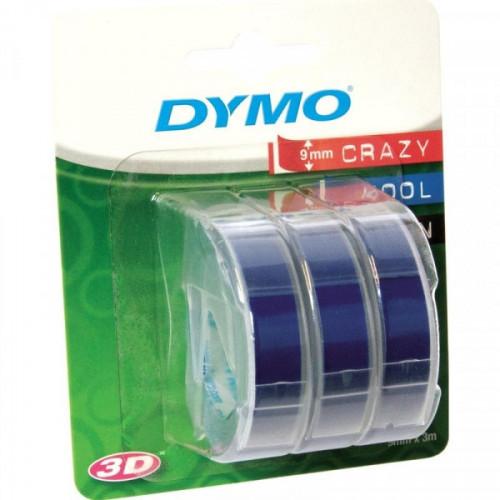 Картридж к принтеру DYMO Omega 9 мм х 3 м 3 рулона белый/синий