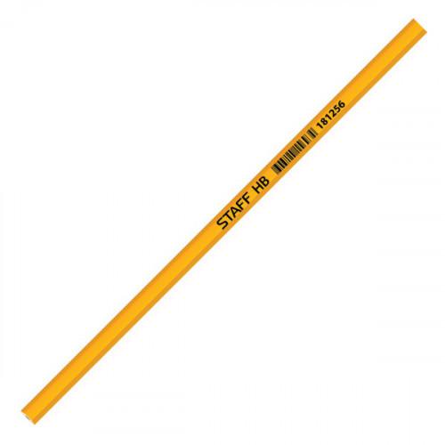 Карандаш STAFF НВ без ластика незаточенный желтый корпус