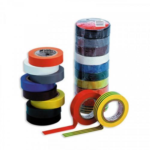 Изолента 3М цветная 15 ммх 10м 10 шутк в упаковке