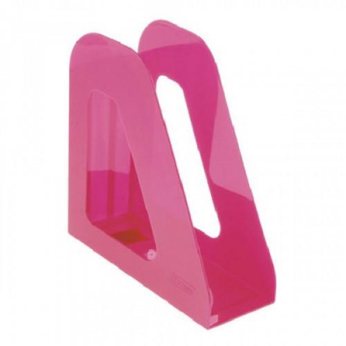 """Лоток вертикальный для бумаг СТАММ """"Фаворит"""", ширина 90 мм, розовый, ЛТ724"""