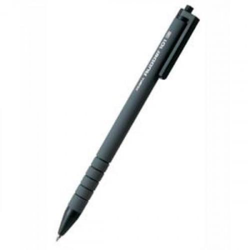 Ручка шариковая автоматическая Zebra RUBBER 101 (BO-101-RU-BK),  0,7мм черная
