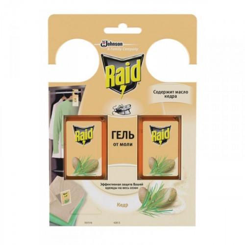 Средство от насекомых Raid Кедр гель от моли 2 штуки в упаковке