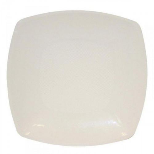 Тарелка одноразовая пластиковая белая размером 180 мм 6 штук в упаковке