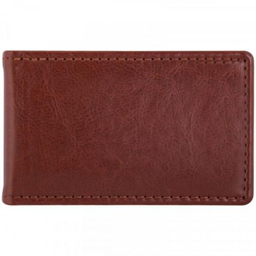 """Визитница карманная OfficeSpace """"Nebraska"""" на 24 визитки, 112*69мм, кожзам, коричневый"""