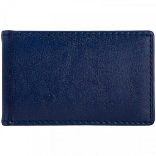 "Визитница карманная OfficeSpace ""Nebraska"" на 24 визитки, 112*69мм, кожзам, синий"