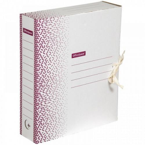 "Папка архивная с завязками OfficeSpace ""Standard"" плотная, микрогофрокартон,  75мм, бордо, 700л."