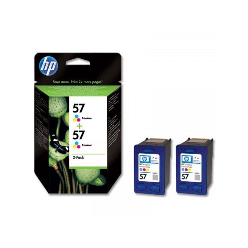 Картридж струйный HP 57 C9503AE цветной оригинальный 2 штуки