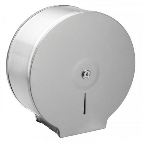 Диспенсер для туалетной  бумаги JUMBO нержавеющая сталь/сатин
