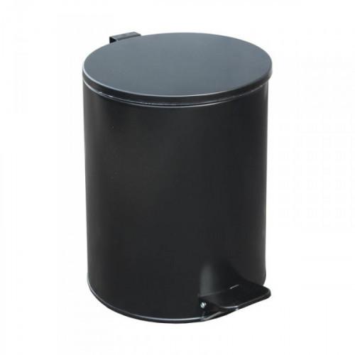Урна с педалью стальная черная 250х330 мм объем 15 литров