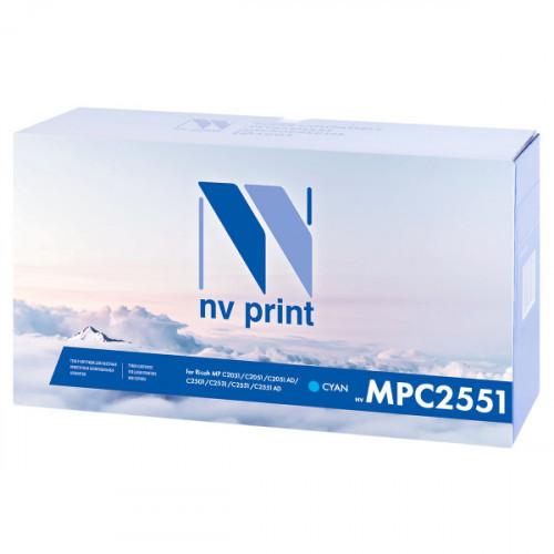 Тонер-картридж NV Print совместимый Ricoh Aficio MP C2551 Cyan  (9500k)