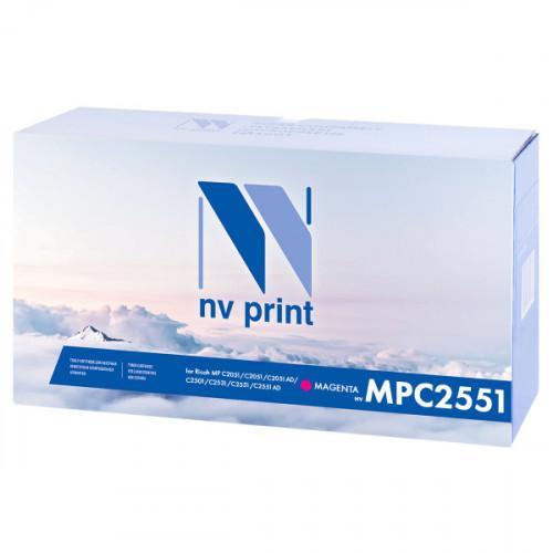 Тонер-картридж NV Print совместимый Ricoh Aficio MP C2551 Magenta (9500k)