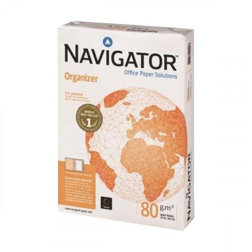 Бумага Navigator Organizer с перфорацией 4 отверстия А4 500 листов 80 грамм