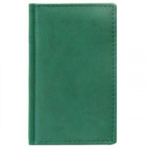 Телефонная книга Attache Вива искусственная кожа А6 96 листов зеленая (85х145 мм)