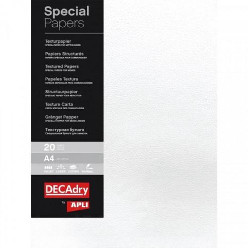 Дизайн-бумага Decadry  текстурная Снег 16603