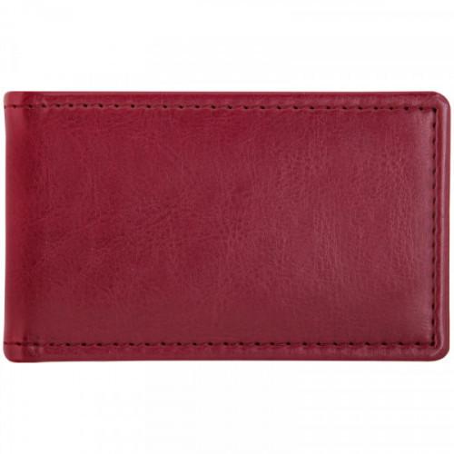 "Визитница карманная OfficeSpace ""Nebraska"" на 24 визитки, 112*69мм, кожзам, бордо"
