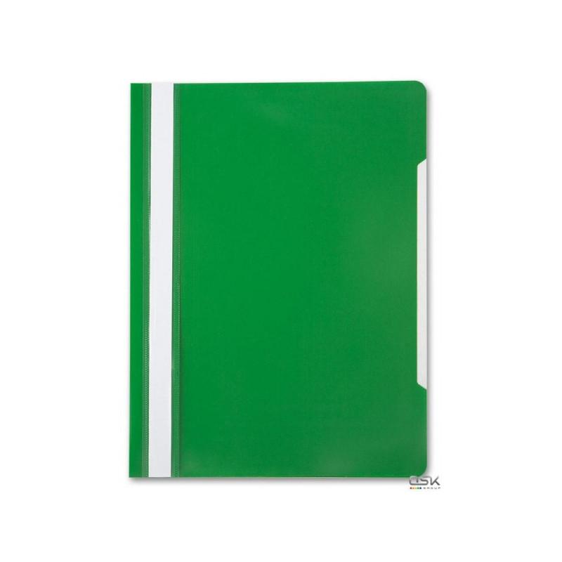 Скоросшиватель с верхним прозрачным листом А4 зеленый СПЕЦ