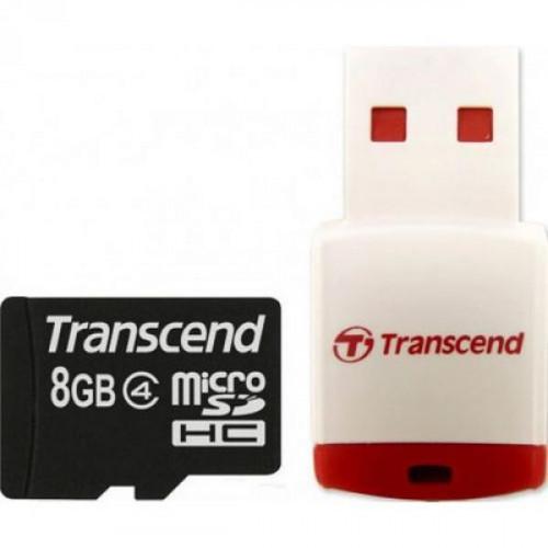 Карта памяти Transcend microSDHC 8GB Class4(TS8GUSDHC4)