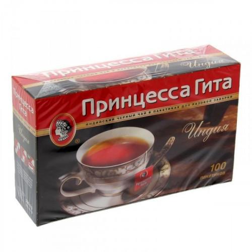 Чай черный Принцесса Гита 100 пакетиков по 2 г