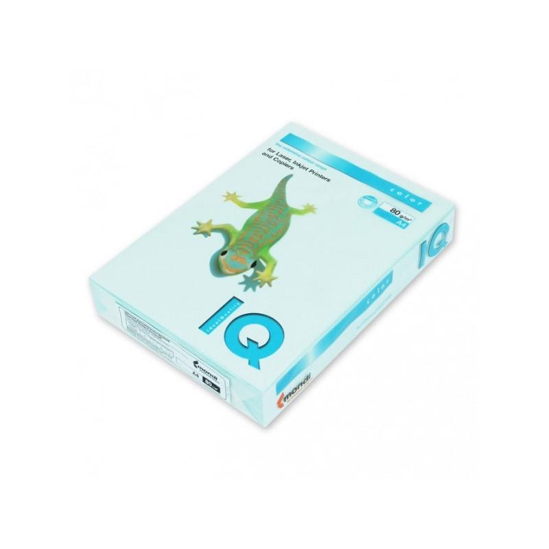 Бумага цветная IQ COLOR А4,80 г, BL29-светло-голубой пачка 100 листов