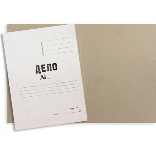 Папка-обложка Дело № мелованный картон А4 белая 380 г/кв.м