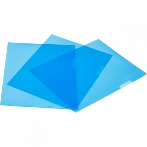 Папка уголок Attache формат А5 синий в упаковке 20 штук