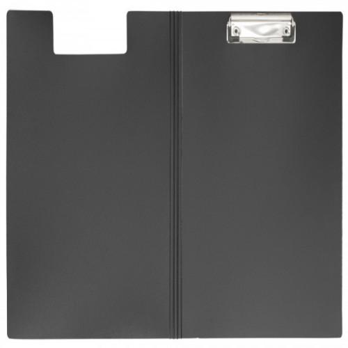 Папка-планшет с крышкой пластиковая черная WORKMATE Office Line А4 (0.8 мм)