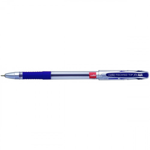 Ручка шариковая Cello TECHNOTIP 0,6 мм синяя с резиновой манжеткой