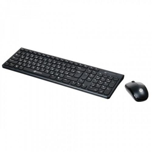 Клавиатура + мышь Oklick 220M клав:черный мышь:черный USB беспроводная slim Multimedia