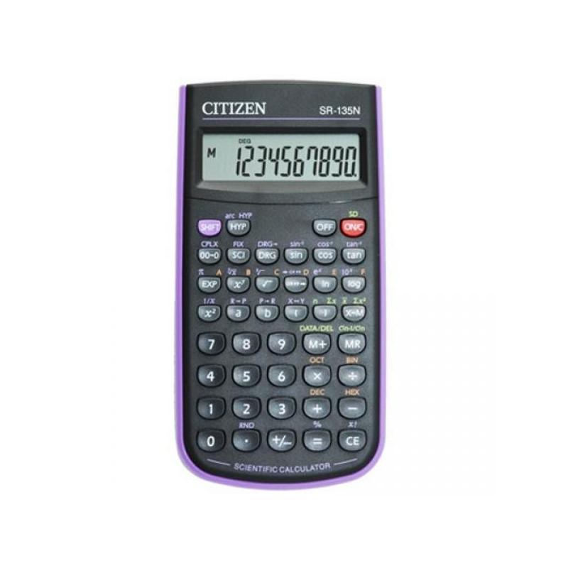 Калькулятор CITIZEN научный SR-135NPU 10 разрядный фиолетовый