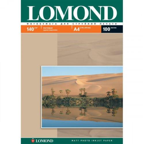 Бумага Lomond матовая односторонняя, А4, 140 г/м2, 25 листов