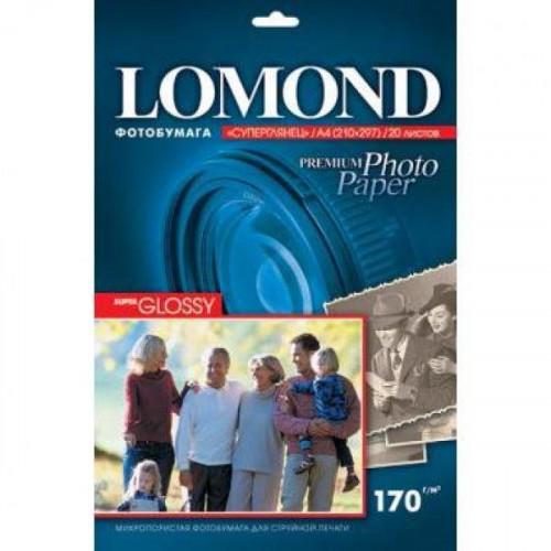 Бумага Lomond суперглянцевая, А4, 170 г/м2, 20 листов