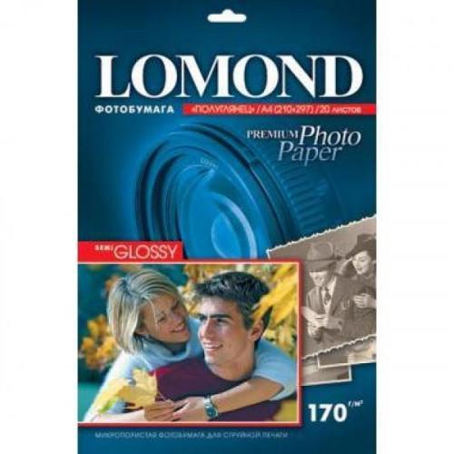 Бумага Lomond полуглянцевая, А4, 170 г/м2, 20 листов