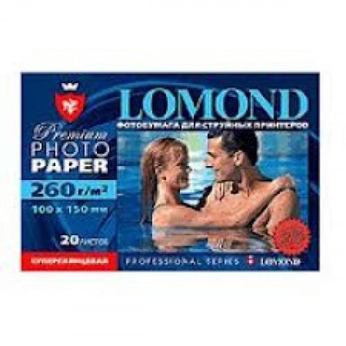 Бумага Lomond суперглянцевая  Премиум, 260г/м2, А6, 500листов