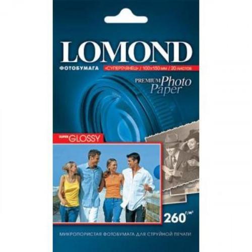 Бумага Lomond суперглянцевая, А4, 260 г/м2, 20 листов