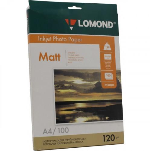 Бумага Lomond A4 120 г/м2 100 листов матовая для струйной печати