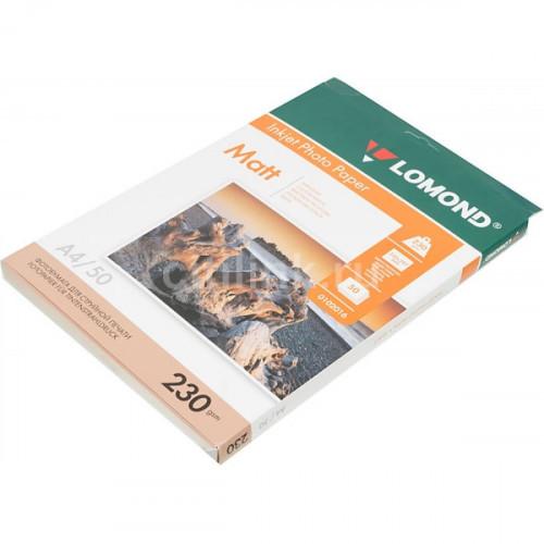 Бумага Lomond A4 230 г/м2 50 листов матовая для струйной печати