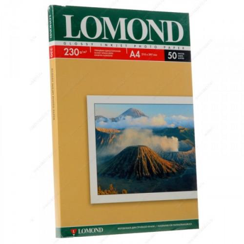 Бумага Lomond A4 230 г/м2 50 листов глянцевая для струйной печати