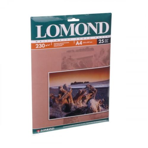 Бумага Lomond A4 230 г/м2 25 листов матовая для струйной печати