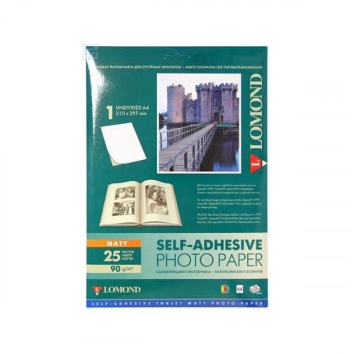 Фотобумага Lomond А4 90 г/м2 25 листов матовая самоклеящаяся для струйной печати