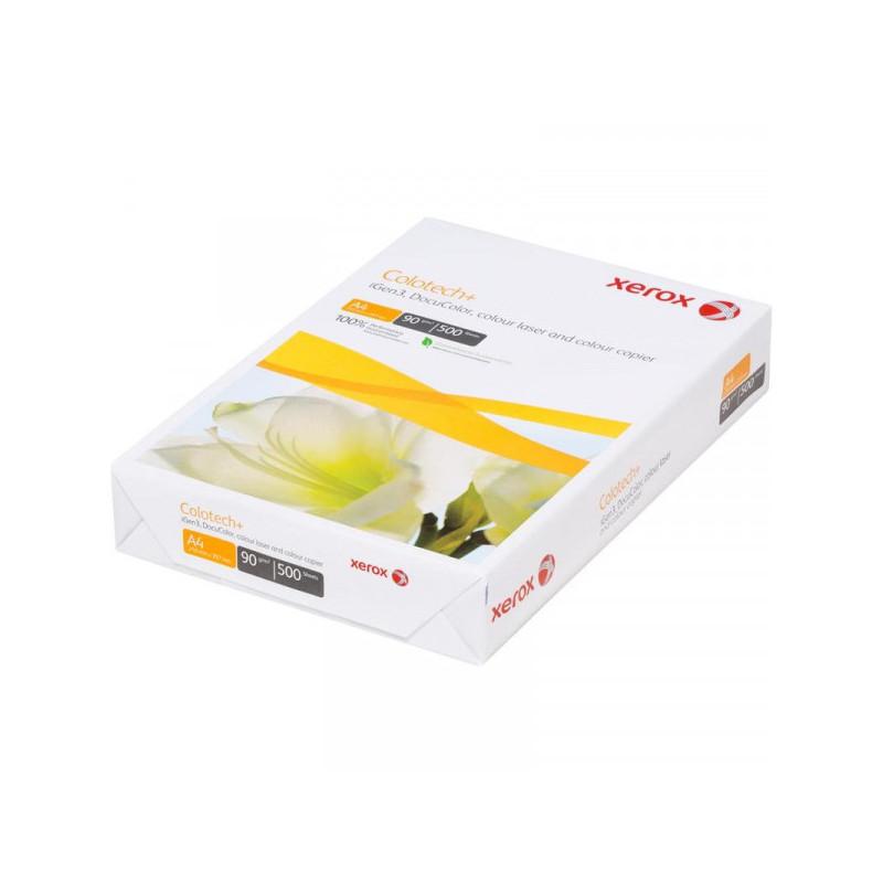 Бумага для цветной лазерной печати XEROX COLOTECH PLUS (А4, 90г, 170CIE%) пачка 500л.