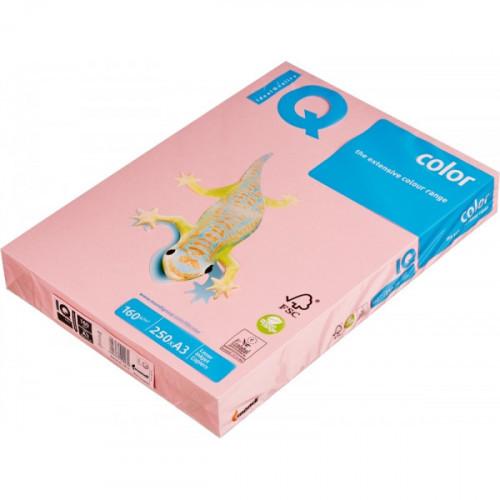 Бумага цветная IQ COLOR А3 160 г PI25-розовый пачка 250 листов