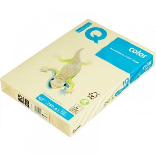 Бумага цветная IQ COLOR А3 160 г  YE23-желтый пачка 250 листов