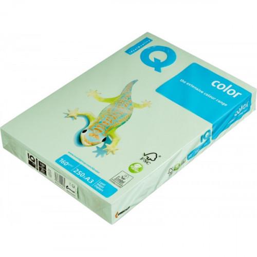 Бумага цветная IQ COLOR А3 160 грамм зеленого цвета пачка 250 листов