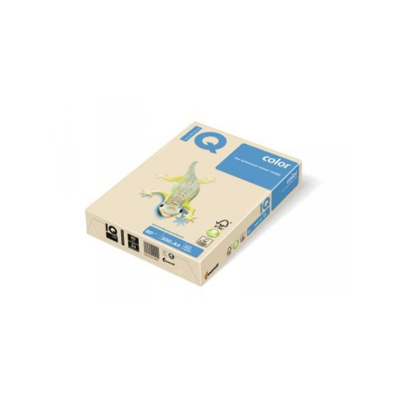 Бумага цветная IQ COLOR А3 80 г CR20-кремовый пачка 500 листов