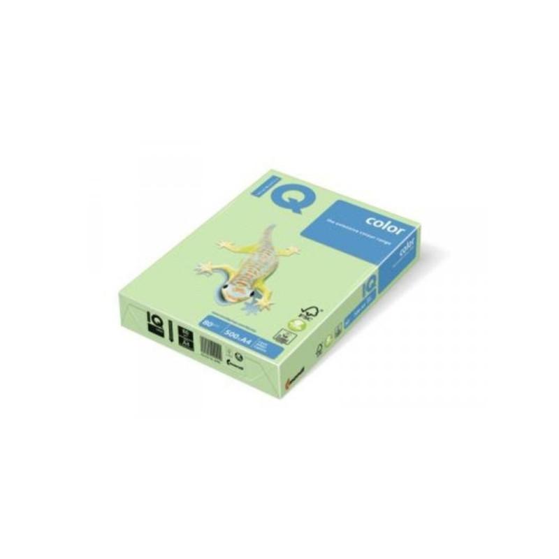 Бумага цветная IQ COLOR А3 80 г GN27-светло-зеленый пачка 500 листов