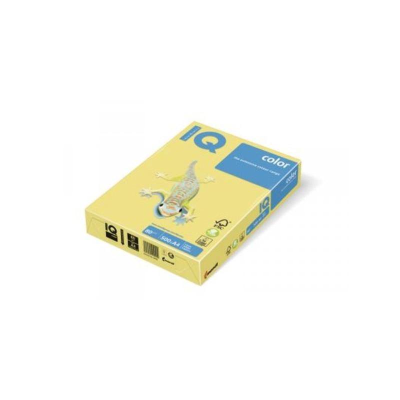 Бумага цветная IQ COLOR А3 80 г ZG34-лимонно-желтый пачка 500 листов